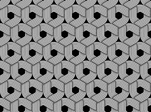 Vector hexagonal seamless pattern of braided fiber. stock illustration