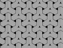 Vector hexagonal seamless pattern of braided fiber. Royalty Free Stock Images