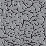 Seamless pattern with brains Vector in monochrome. Seamless pattern with brains Vector illustration background in monochrome royalty free illustration