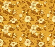 Seamless pattern with a branch of apple tree Royalty Free Stock Images
