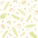 Seamless pattern branches Stock Images