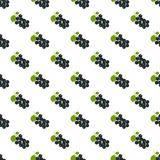 Seamless pattern. Branches with black berries on white background. Black currant. For your design and decoration of fabric, paper and wallpaper stock illustration