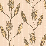 Seamless pattern with branches and buds.  Royalty Free Stock Photos
