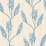 Seamless pattern with branches and buds of soft colors Royalty Free Stock Photography
