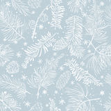 Seamless pattern with branches. Christmas and New Year background. Seamless pattern with fir branches.Christmas and New Year background. Vector illustration Stock Photos