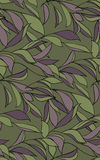 Seamless pattern with branches and foliage. Stock Photo