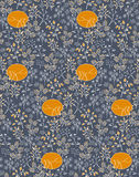 Seamless pattern with branches and foxes. Stock Photos