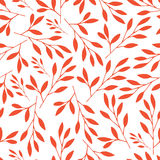 Seamless pattern with branches and leaves. vector illustration