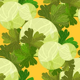 Seamless pattern of branches with leaves gooseberry. vector illu Stock Photography