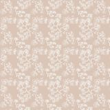 Seamless pattern of branches on a pale beige background. Seamless pattern of white branches on pale beige background. The composition is made in the technique Royalty Free Stock Images