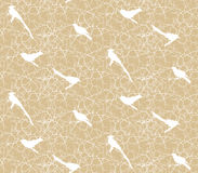 Seamless pattern with branches, thorns and birds. Stock Image