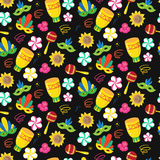 Seamless pattern with brazilian carnival elements Stock Photography