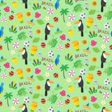Seamless pattern with brazilian elements Stock Image