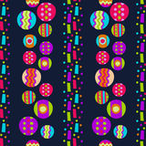Seamless pattern with bright abstract shapes Royalty Free Stock Images