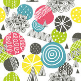 Seamless pattern with bright abstract shapes. Stock Images