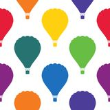 Seamless pattern with bright colored balloons. Surface design. Vector illustration for design Royalty Free Stock Image