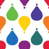 Seamless pattern with bright colored balloons. Surface design. Vector illustration for design Stock Photography