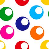 Seamless pattern with bright colorful circle. Vector illustration vector illustration