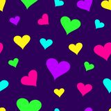 Seamless pattern with colorful hearts. Vector illustration vector illustration