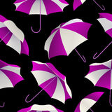 Seamless pattern with bright colorful umbrellas. Autumn background Royalty Free Stock Photos
