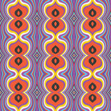 Seamless pattern. Bright colorful seamless pattern of wavy lines with in a retro style. Vector illustration royalty free illustration