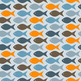 Seamless Pattern with Fishes Royalty Free Stock Images