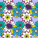 Seamless pattern of bright flowers Royalty Free Stock Photos