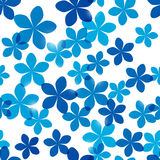 Seamless pattern with bright flowers Stock Photography