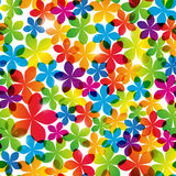Seamless pattern with bright flowers Stock Photos