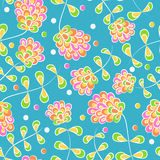 Seamless pattern with bright flowers Royalty Free Stock Photo