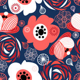 Seamless pattern of bright flowers Royalty Free Stock Image