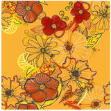 Seamless pattern with bright flowers Royalty Free Stock Images