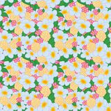 Seamless Pattern Bright Flowers Royalty Free Stock Images