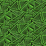 Seamless pattern with bright green triangles. Doodle seamless pattern with bright green scribble triangles. Abstract trendy vector texture with hand drawn shapes Stock Illustration