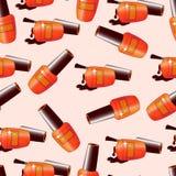 Seamless pattern, bright nail varnish. Royalty Free Stock Photo