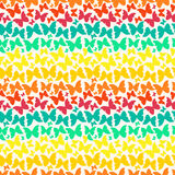 Seamless pattern with bright rainbow silhouette butterflies Stock Photo