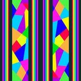 Seamless pattern of bright splinters mosaics. Bright shards mosaics on dark backgrounds Stock Photo