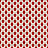 Seamless pattern with bright stylized triangles on white background. Repeated geometric figures wallpaper. Royalty Free Stock Images