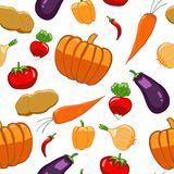 Seamless pattern with bright vegetables Stock Photo
