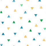 Seamless pattern with bright watercolor triangles. Vector illustration royalty free stock images