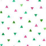 Seamless pattern with bright watercolor triangles. Vector illustration stock photography