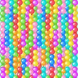 Seamless pattern. Brightly colored balloons. Vector illustration. Seamless pattern. Colorful bright balloons. Bright background for festive packaging design Royalty Free Stock Image