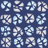 Seamless pattern with broken plates, abstract background. Royalty Free Stock Photo