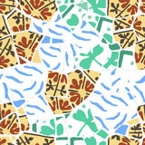 Seamless pattern with broken tiles Royalty Free Stock Photography