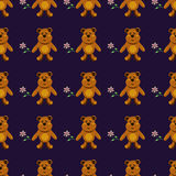 Seamless pattern with brown bears Stock Photos