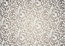 Seamless pattern in brown color. Floral illustration Stock Images