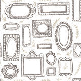 Seamless pattern of brown frames Stock Image