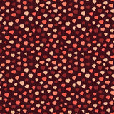 Seamless pattern with brown hearts, Valentine Day background. Abstract heart texture, endless Valentine Day background. Endless ornament. Warm colored backdrop Royalty Free Stock Image