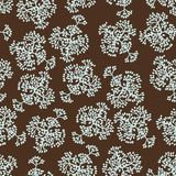 Seamless pattern with brunches. Vector background Royalty Free Stock Photo