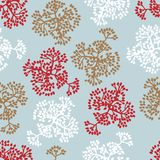 Seamless pattern with brunches. Vector background Stock Image